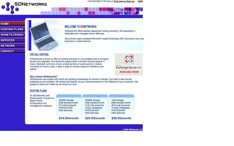 Screenshot of Home Page sdnetworks.com - SDNetworks -- Datacenter Solutions - captured Oct. 3, 2014