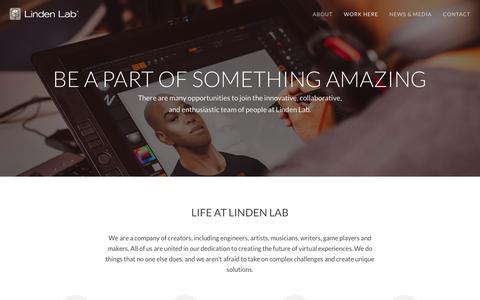 Screenshot of Jobs Page lindenlab.com - Careers and Benefits | Linden Lab - captured Dec. 4, 2015