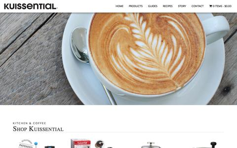Screenshot of Products Page kuissential.com - Products Archive - Kuissential - captured Nov. 24, 2016