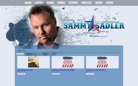 Screenshot of Products Page sammysadler.com - Products – Sammy Sadler - captured March 27, 2017