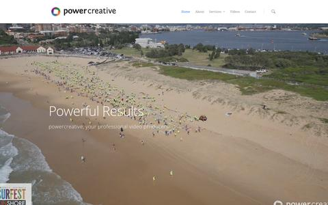 Screenshot of Home Page powercreative.com.au - Power Creative, Sydney based Film, Audio & Video Producers - captured Jan. 22, 2016