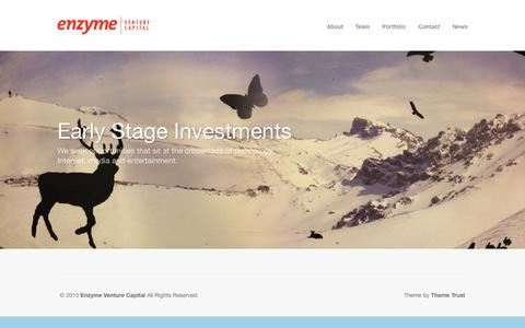 Screenshot of Blog enzymevc.com - Enzyme Venture Capital - captured June 21, 2015