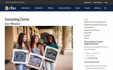 California Baptist University                     :: Counseling Center