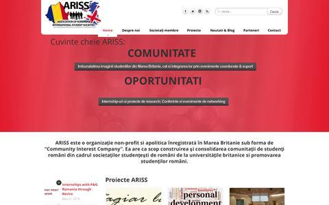 Screenshot of Home Page ariss-uk.com - ARISS - captured Oct. 1, 2014
