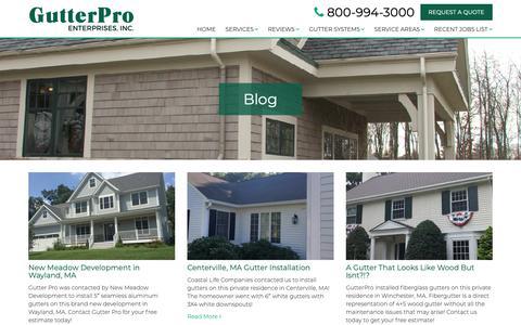 Screenshot of Blog gutterpro.com - Blog - GutterPro - captured Sept. 30, 2018