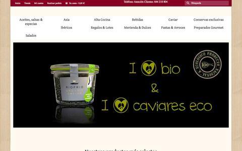 Screenshot of Home Page gourmet-online.es - Tienda gourmet online - Productos gourmet & delicatessen - www.gourmet-online.es - captured Sept. 23, 2014