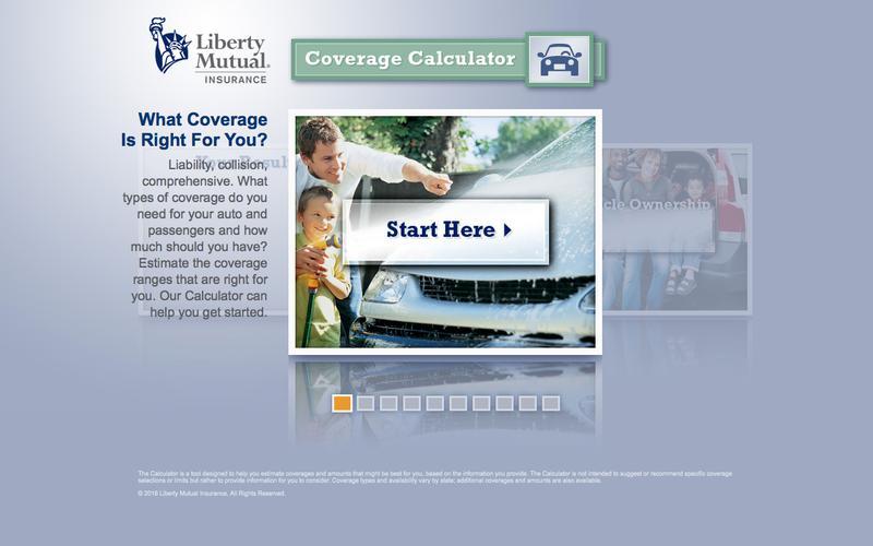 Auto Insurance Coverage Calculator | Liberty Mutual