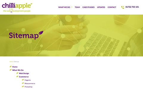 Screenshot of Site Map Page chilliapple.co.uk - About us: Fresh and Creative digital agency - captured Nov. 5, 2016