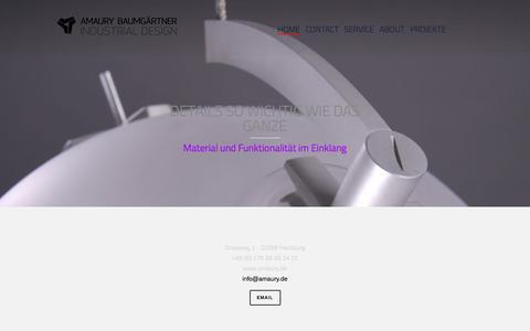 Screenshot of Home Page amaury.de - Amaury Baumgärtner HOME - Amaury Baumgärtner - captured Feb. 5, 2016