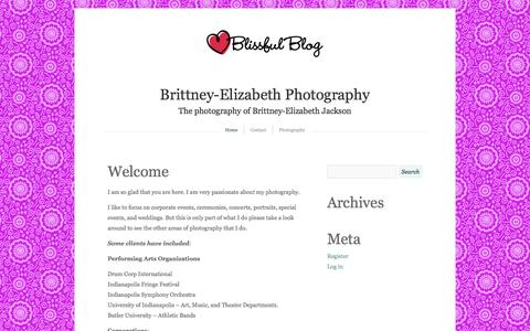 Screenshot of wordpress.com - Brittney-Elizabeth Photography   The photography of Brittney-Elizabeth Jackson - captured Oct. 11, 2014