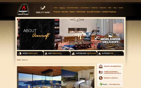 Screenshot of About Page acucraft.com - About Us   Acucraft - Custom Fireplace Manufacturer - captured Oct. 3, 2018