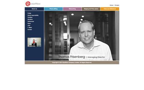 Screenshot of Team Page esoftflow.com - Team - captured Sept. 30, 2014