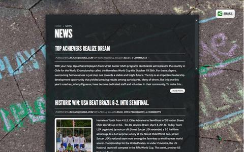 Screenshot of Press Page streetsoccerusa.org - News | Street Soccer USA - captured Oct. 7, 2014