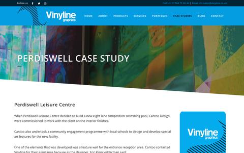 Screenshot of Case Studies Page vinyline.co.uk - Perdiswell Case Study - captured Feb. 4, 2019