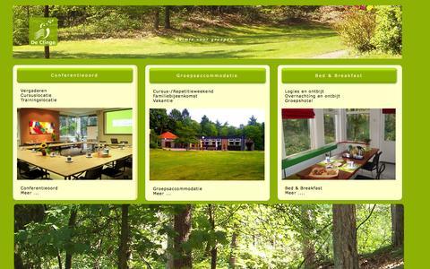 Screenshot of Home Page declinge.nl - De Clinge, Conferentieoord-Groepsaccommodatie-Logies en ontbijt. - captured Sept. 30, 2014