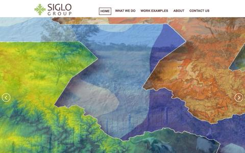 Screenshot of Home Page siglogroup.com - Siglo Group - captured Sept. 30, 2014