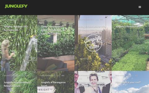 Screenshot of Press Page junglefy.com.au - News – Junglefy - captured Feb. 11, 2016