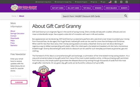 Screenshot of About Page giftcardgranny.com - About Gift Card Granny - captured Aug. 23, 2016