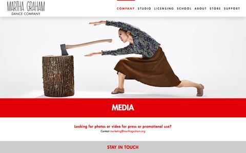 Screenshot of Press Page marthagraham.org - Media – Martha Graham Dance Company - captured Oct. 17, 2017