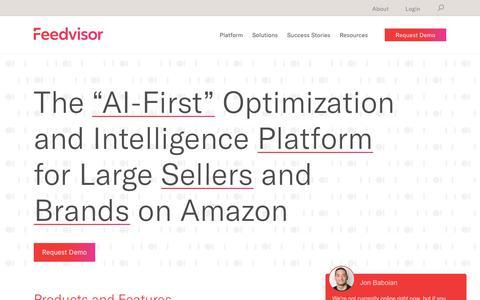 Screenshot of Pricing Page feedvisor.com - Plans – Feedvisor - captured Oct. 8, 2018