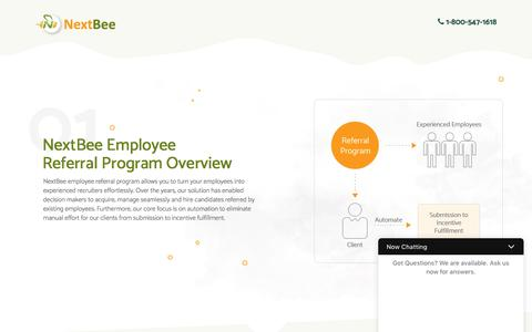 Screenshot of Landing Page nextbee.com - Referral Rewards, Loyalty Programs, and Social Media Advocacy Solutions for Your Customer Acquisition and Retention Efforts - captured Sept. 1, 2017