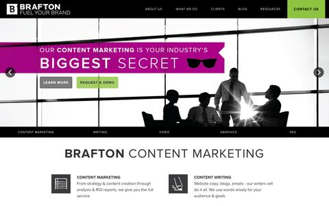 Screenshot of Home Page brafton.com - Brafton - captured Oct. 2, 2015