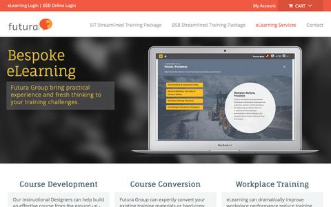 Screenshot of Services Page futuragroup.com.au - Custom eLearning & Instructional Design Solutions | eLearning Developers Australia | Futura Group - captured Nov. 25, 2016