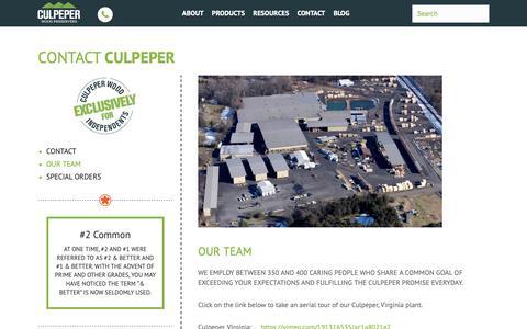 Screenshot of Team Page culpeperwood.com - Our Team – Culpeper Wood Preservers - captured Sept. 29, 2018