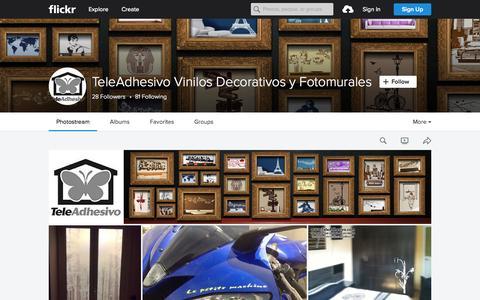 Screenshot of Flickr Page flickr.com - TeleAdhesivo Vinilos Decorativos y Fotomurales   Flickr - Photo Sharing! - captured Nov. 24, 2015