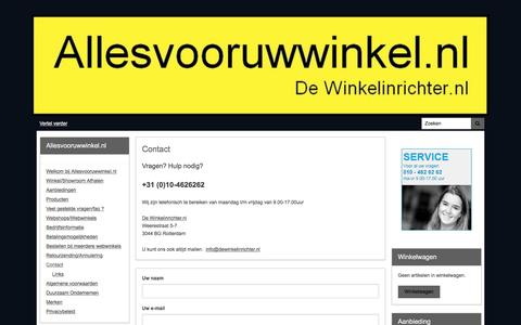 Screenshot of Contact Page allesvooruwwinkel.nl - Contact | Allesvooruwwinkel.nl - captured Feb. 9, 2016