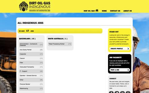 Screenshot of Jobs Page dirtoilgas.com - Create a job alert,submit your CV,apply for jobs - Dirt Oil Gas - captured Aug. 2, 2016
