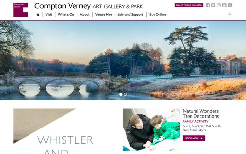 Screenshot of Home Page comptonverney.org.uk - About Compton Verney | Compton Verney - captured Dec. 8, 2018