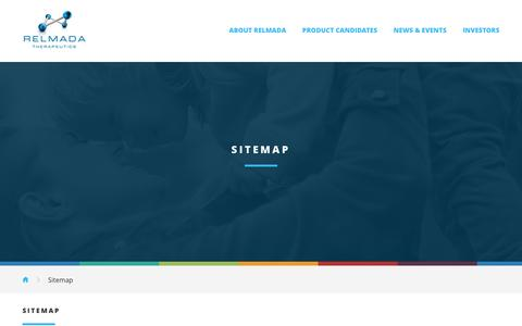 Screenshot of Site Map Page relmada.com - Sitemap :: Relmada Therapeutics, Inc. (RLMD) - captured Feb. 14, 2016