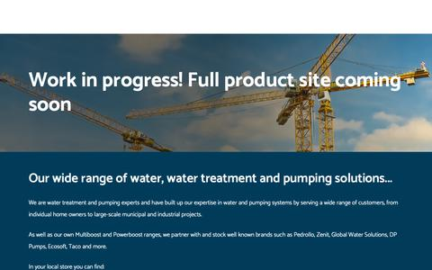 Screenshot of Products Page epswater.ie - Pumps, Motors, Water and Waste Water Treatment Products in Mallow, Ballyhaunis, Mountrath, Naas and Newtownards, Ireland | EPS Group - captured Sept. 25, 2018