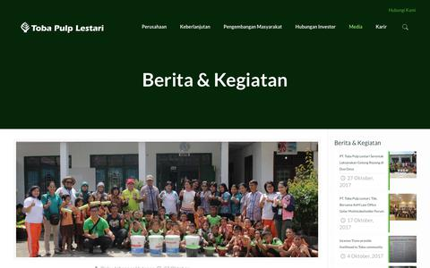 Screenshot of Press Page tobapulp.com - Berita & Kegiatan | PT Toba Pulp Lestari Tbk. - captured Nov. 2, 2017