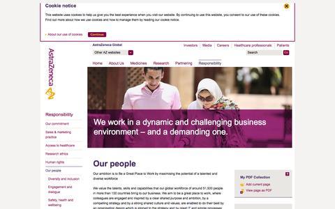 Screenshot of Team Page astrazeneca.com - AstraZeneca - Our people - captured Sept. 23, 2014