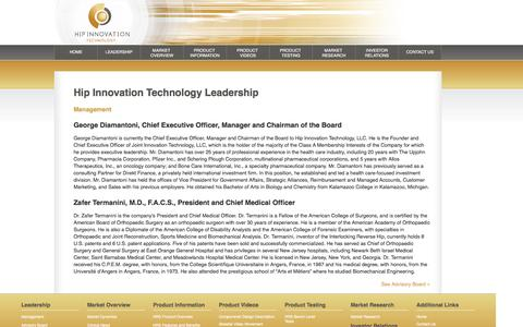 Screenshot of Team Page hipinnovationtechnology.com - Management - Hip Innovation Technology Leadership - captured Feb. 21, 2016