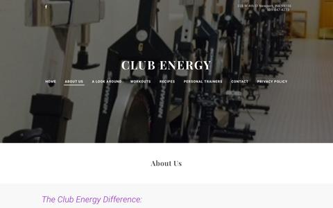 Screenshot of About Page club-energy.com - ABOUT US - Club Energy - captured March 11, 2016
