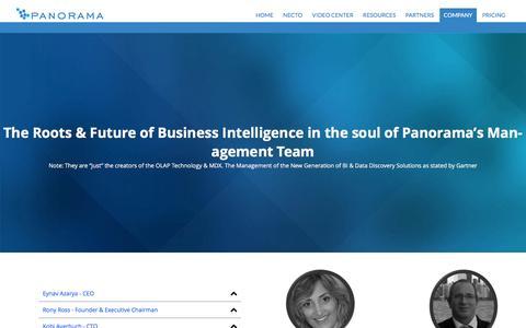 Screenshot of Team Page panorama.com - Management - Panorama - captured Jan. 24, 2016