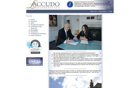 Screenshot of Home Page accudo.co.uk - Accudo Investments Ltd - captured Oct. 4, 2014