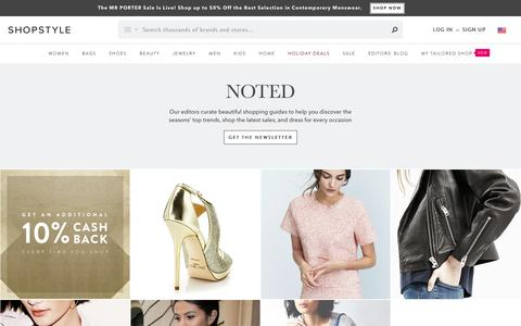 Screenshot of Blog shopstyle.com - ShopStyle - captured Dec. 29, 2015