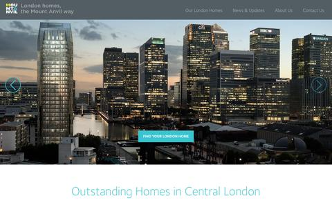 Screenshot of Home Page mountanvil.com - A Specialist Developer of Homes & Apartments in London - captured Jan. 11, 2016