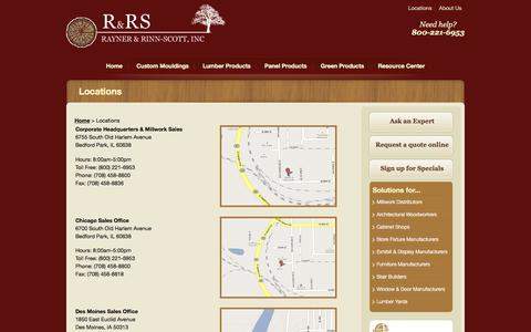 Screenshot of Locations Page rrswood.com - Locations | Rayner & Rinn-Scott, Inc. - captured Oct. 27, 2017