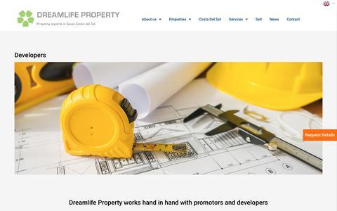 Screenshot of Developers Page dreamlifeproperty.com - Real Estate Consultants | Dreamlife Property - captured Aug. 8, 2018