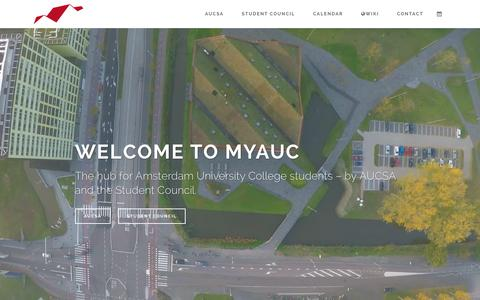 Screenshot of Home Page myauc.nl - Home | MyAUC - captured Feb. 5, 2016
