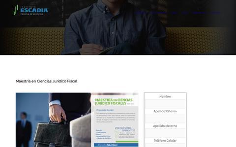 Maestría en Ciencias Jurídico Fiscal – Escadia