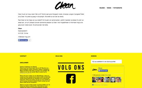 Screenshot of Contact Page clean-mag.com - Contact | Clean - captured Oct. 2, 2014
