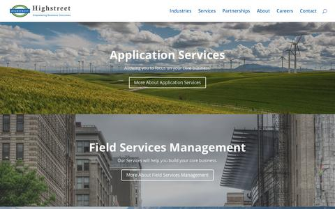 Screenshot of Services Page highstreetit.com - Services - Highstreet IT - captured Nov. 10, 2016