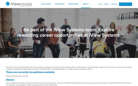 Screenshot of Jobs Page iviewsystems.com - Careers | Find new career opportunities at iView Systems - captured Sept. 20, 2018
