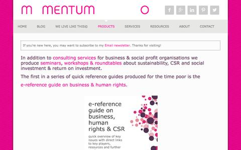 Screenshot of Products Page momentumpartnerships.com - products - Momentum Partnerships - captured Feb. 28, 2016